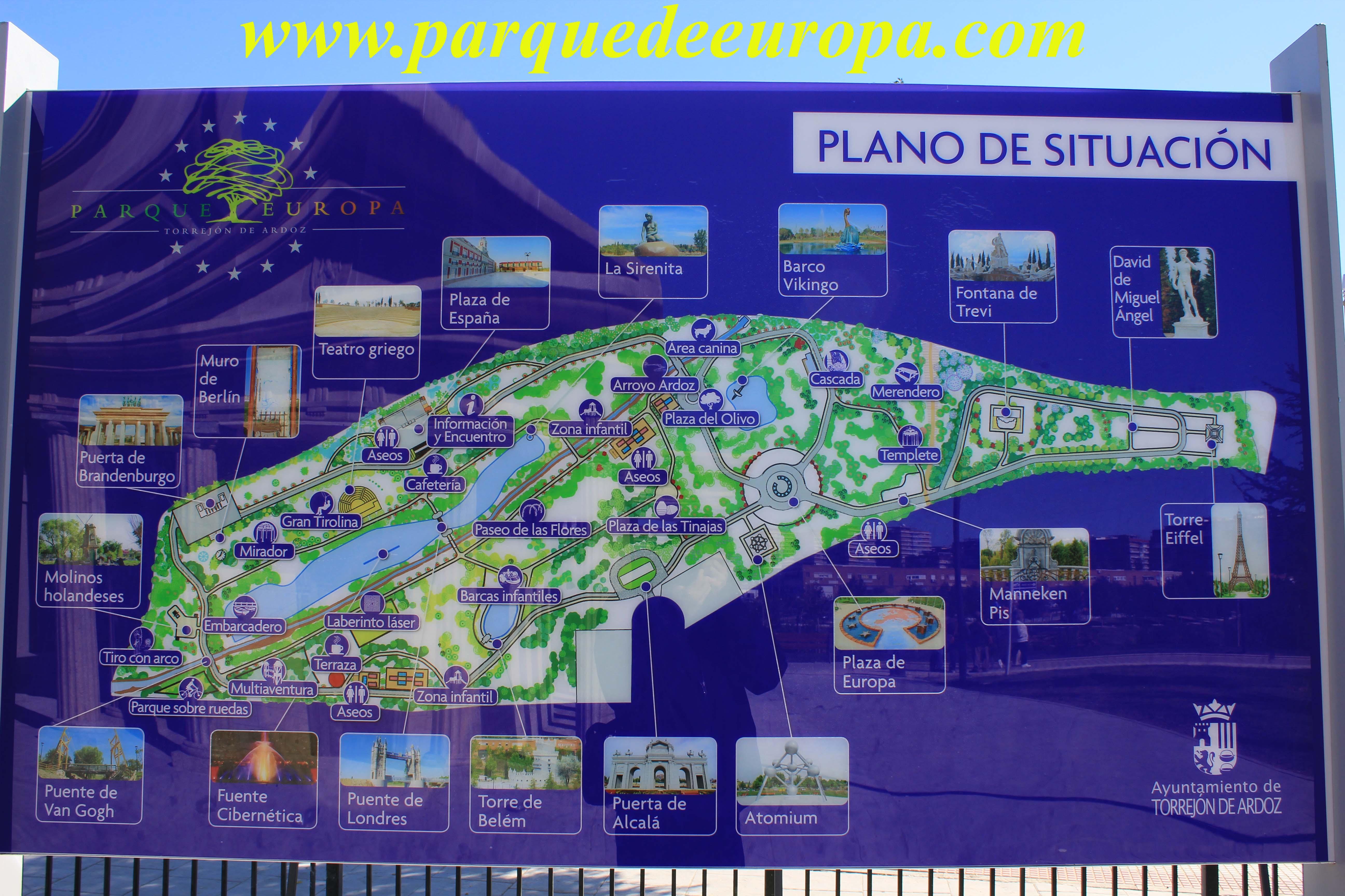 Plano del parque blog parque europa - Viviendas en torrejon de ardoz ...